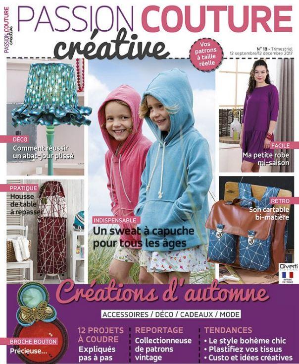 Article sur La Modette dans Passion Couture Créative parution septembre 2017