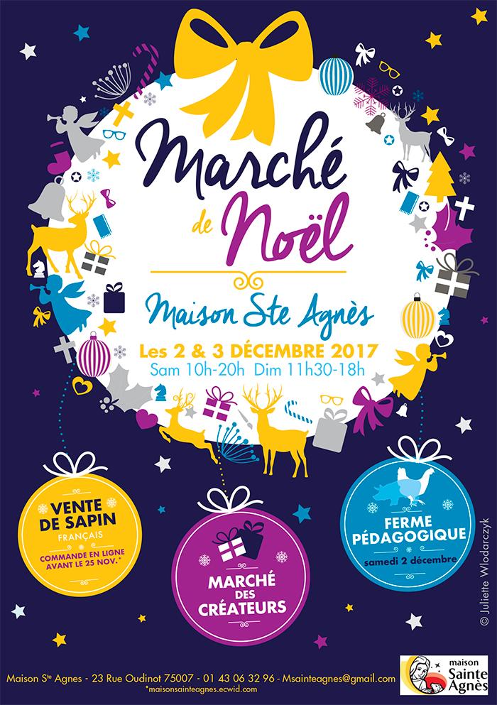 Marché de Noël, créateurs, Maison Ste Agnès Paris 75007