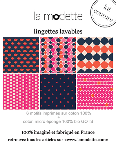 packaging kit de lingettes démaquillantes La Modette