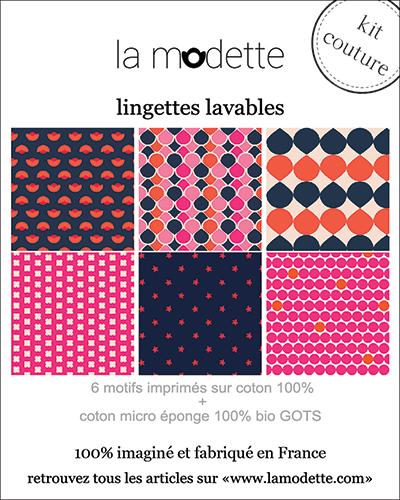 packaging kit de lingettes démaquillantes La Modette