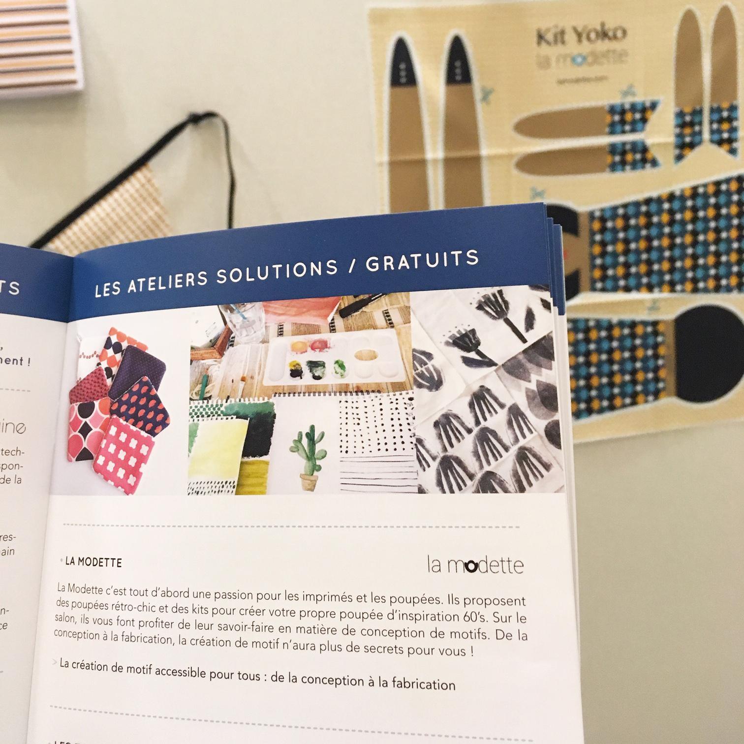 Ateliers Solution animés par La Modette au salon Aiguille en Fête 2018